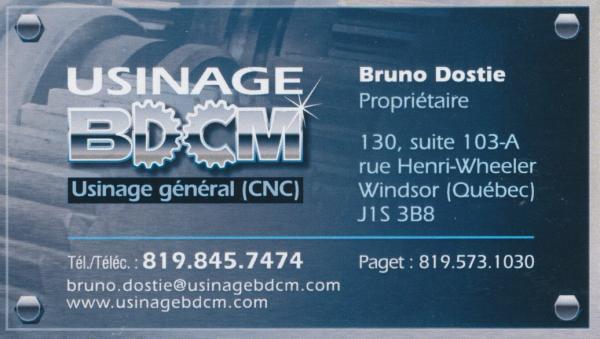Usinage BDCM